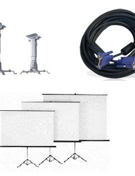 پایه - کابل - پرده پروژکتور