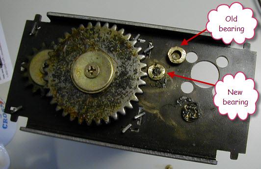 new and old gears - اموزش تعمیر کاغذ خردکن